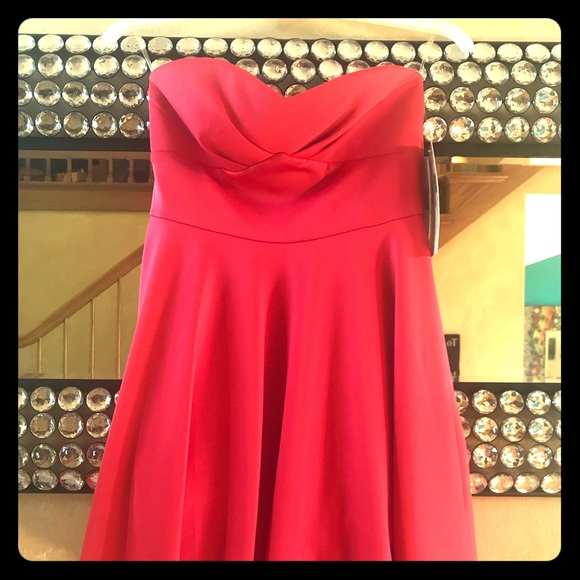 honey and Rosie Dresses & Skirts - Cute strapless hot pink coral homecoming dress 0